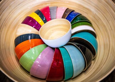 Bamboo bowls assortment