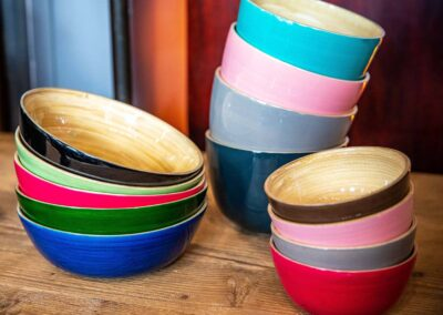 Assortment of Bamboo bowls