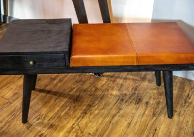 Custom Bench with drawer and top surface