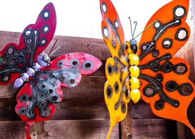 Steel wall butterfly