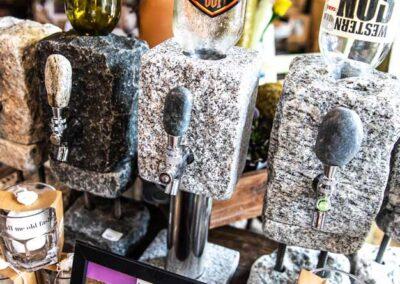 Stone spirit dispenser