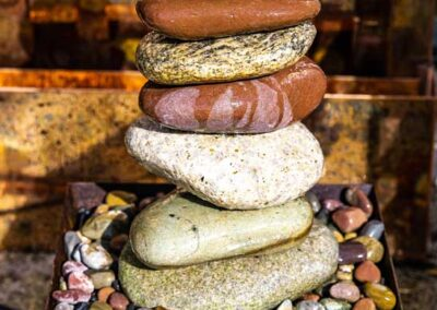 Stone stack fountain
