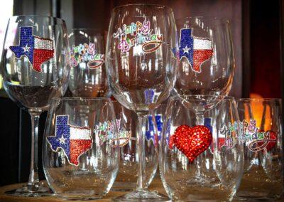 Texas Charmed Wine Glasses