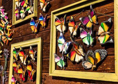 Wall mounted butterflies decor