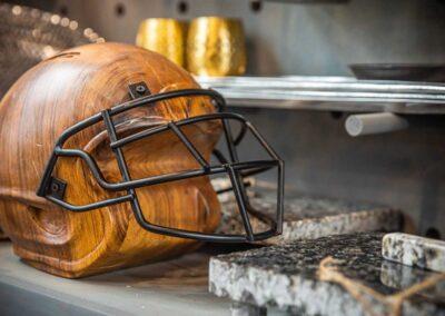 Wooden Helmet art