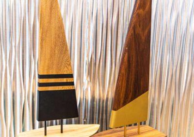 Wooden Sail Boats decor